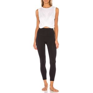 Spanx Look At Me Now Cropped Black Leggings Size M